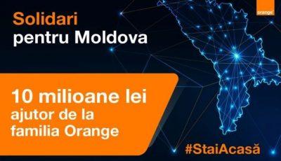 Solidaritate! Orange Moldova donează 10 milioane de lei în lupta contra Covid-19