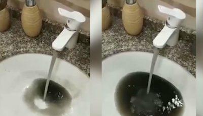 La Hâncești curge apă neagră din robinete, cu un miros înțepător