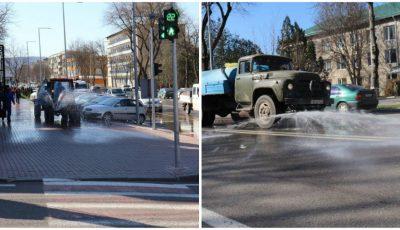 Străzile și stațiile din Orhei sunt tratate cu dezinfectanți. Foto