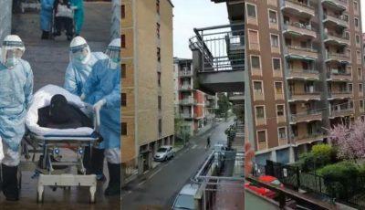 Un moment video care îți dă fiori! În Italia, oamenii au ieșit la balcoane și aplaudă medicii care luptă cu coronavirusul