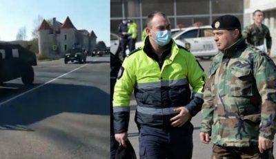 Echipe de blindate cu militari au pornit spre mai multe localități ale țării