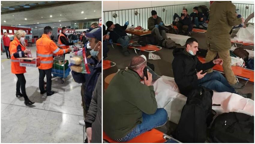 Francezii au oferit paturi și alimente moldovenilor blocați pe aeroportul din Paris