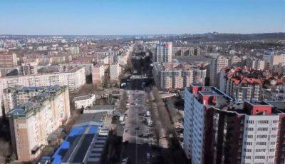 Străzi și parcuri pustii. Cum arată de la înălțime orașul Chișinău, aflat în carantină