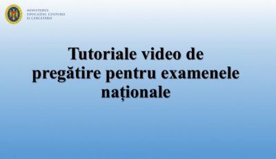 Ministerul Educației prezintă tutoriale video de pregătire pentru examenele naționale, sesiunea 2020