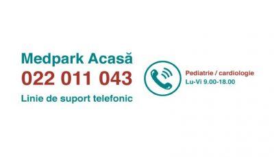 #StaiAcasă: Medpark lansează o linie de suport telefonic pentru perioada carantinei