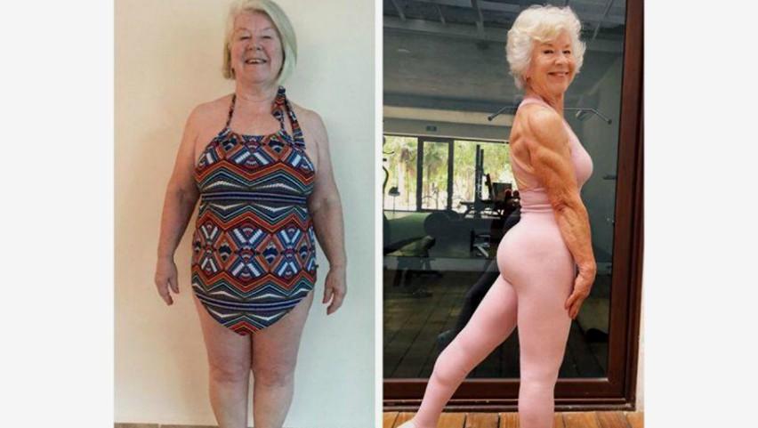 Foto: O femeie de 73 de ani a reușit să slăbească 23 de kg și să-și schimbe complet viața