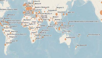 Coronavirus în lume: Numărul de îmbolnăviri confirmate a depășit 800.000. Sunt peste 38.000 de decese