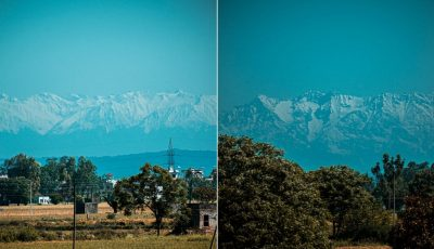 Aerul a devenit mai curat. Vârfurile din Himalaya au devenit vizibile, pentru prima dată în 30 de ani