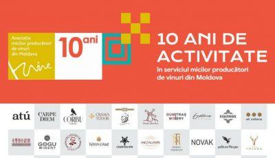 Asociația Micilor Producători de Vinuri din Moldova celebrează 10 ani de activitate și succese remarcabile