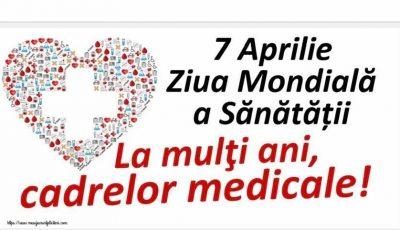 Astăzi este marcată Ziua mondială a Sănătății
