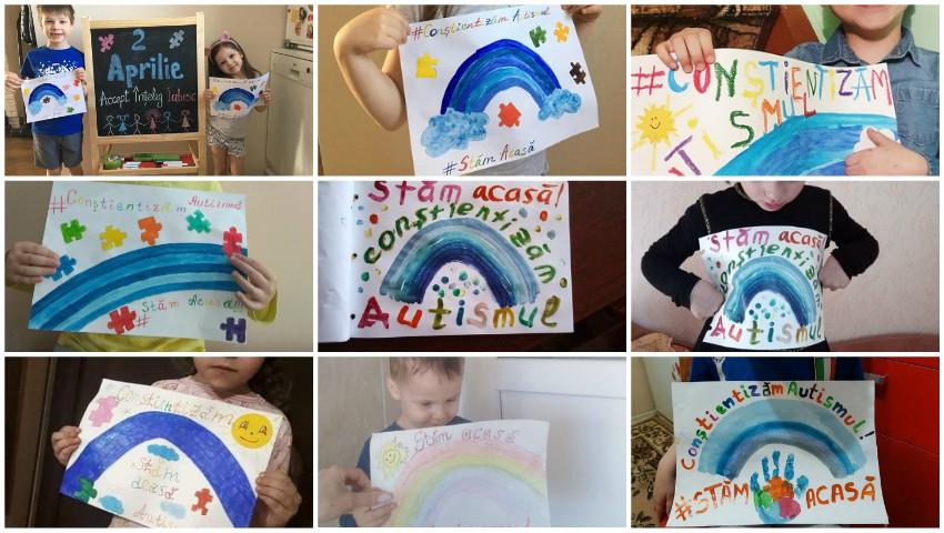 Foto: Astăzi este Ziua Mondială a Conștientizării Autismului: copiii au organizat un flashmob