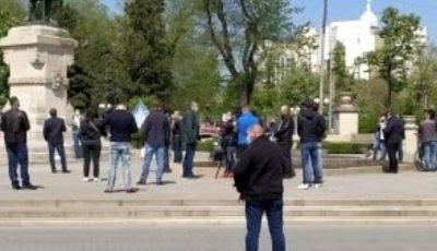 Un grup de persoane care s-au adunat în centrul Capitalei vor fi sanționate cu amenzi de 22.500 lei
