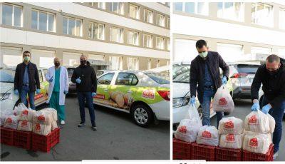 """Compania ,,Meat House"""" a făcut donații de seturi alimentare pentru eroiidin prima linie"""
