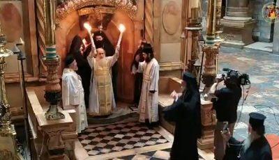 Hristos a Înviat! Sfânta Lumină s-a pogorât la Ierusalim şi în acest an. Video!