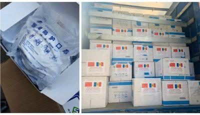 China a donat R. Moldova 3 tone de combinezoane, mănuși sterile, măști, bahile, ochelari medicali de protecție și termometre cu infraroșu