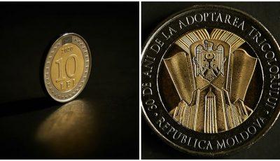 BNM lansează o nouă monedă de circulație, dedicată aniversării a 30-a de la adoptarea drapelului Republicii Moldova
