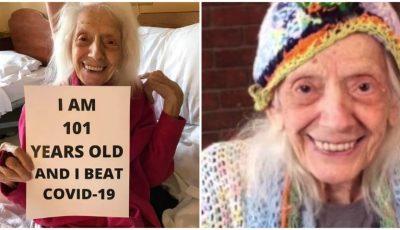 O femeie de 101 ani, care a supraviețuit cancerului, s-a vindecat și de Covid-19