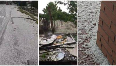 Grindina a făcut prăpăd în sudul țării. Video!