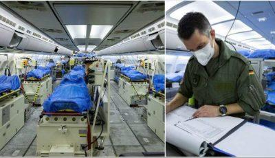 Nemţii au făcut spital într-un avion și zboară cu el să trateze bolnavii de coronavirus din Franţa și Italia
