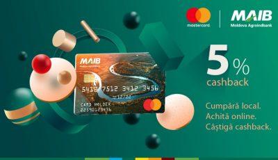 Cumpără local. Achită online. Câștigă cashback împreună cu MAIB și Mastercard!