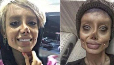 """Femeia ,,Zombie Angelina Jolie"""", ținută în viaţă de un ventilator pulmonar, după ce a luat Covid-19 în închisoare"""