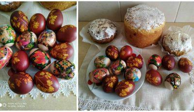 O moldoveancă a vopsit ouă cu pătrunjel și coji de ceapă. I-am cerut rețeta!
