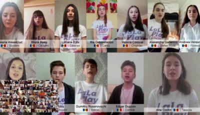 Tinerii din Moldova împreună cu 140 muzicieni din întreaga lume cântă Imnul Europei