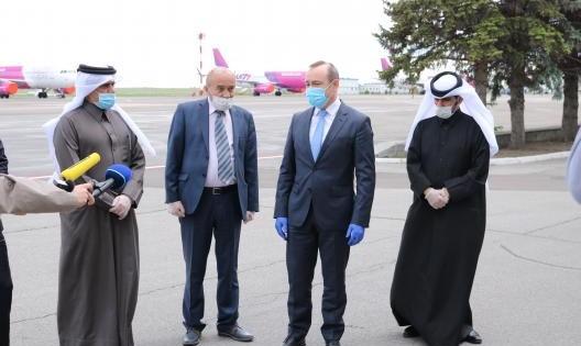 Foto: Statul Qatar a oferit un lot de ajutor umanitar medical Republicii Moldova