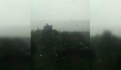 O ploaie cu gheață uriașă a lovit raionul Ialoveni. Video îngrozitor