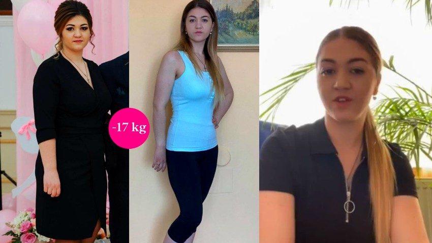 Cristina a reușit să slăbească 17 kg în cea de-a 9-a ediție a proiectului ,,Galina Tomaș îți cumpără kilogramele''!
