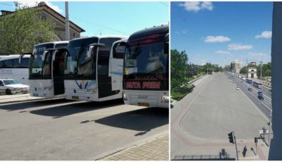 Protest la Chișinău. Transportatorii internaționali de pasageri cer reluarea curselor