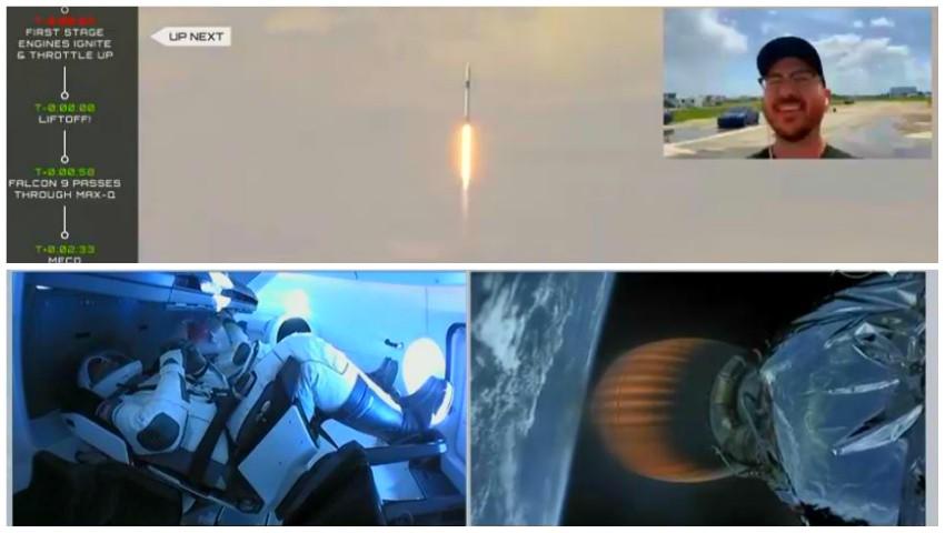 Video! Imagini istorice incredibile. Capsula Space X cu echipaj uman a fost lansată în spațiu