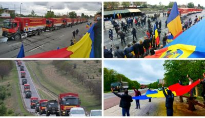Video! Convoiul cu ajutoare umanitare în valoare de 3,5 milioane de euro a ajuns la Chișinău. Mulțumim, România!