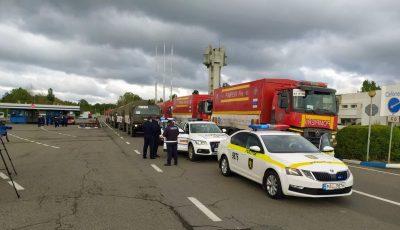 Foto! Ajutoarele umanitare din România au trecut Prutul