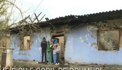 Un incendiu le-a mistuit casa. O familie cu 5 copii are nevoie de ajutor