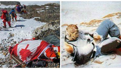Fotografii incredibile. Sute de alpiniști își dorm somnul de veci pe Everest, cel mai mare cimitir în aer liber