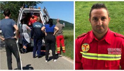 Un angajat SMURD a izbucnit în lacrimi văzând victima pe care trebuia să o salveze. Era chiar copilul său, în vârstă de 4 ani