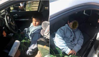 Copil de 5 ani prins la volan, singur în mașină, pe autostradă. Ce le-a spus polițiștilor?