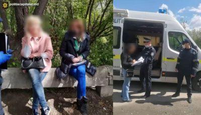 Video. Confruntare dificilă. Două prostituate de pe Calea Basarabiei, amendate de polițiști