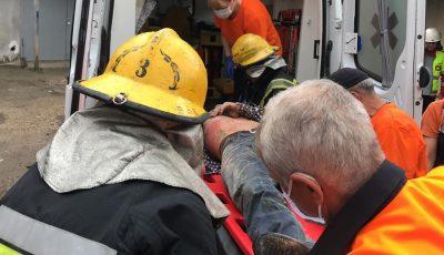 Explozie în Capitală. Un bărbat a fost scos de sub dărămâturi și beton