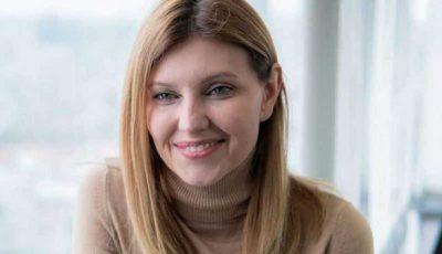 Soția președintelui Ucrainei a fost internată în spital, cu Covid-19