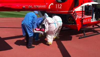 O tânără din Moldova a fost transportată cu un echipaj Smurd de la Chișinău la București