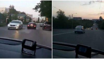 Șofer din Capitală, urmărit timp îndelungat și oprit forțat de 4 echipaje de patrulare. Video și explicațiile poliției