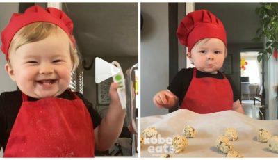 Video. Un băiețel de doar un an gătește și strânge pe Instagram peste un milion de fani