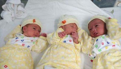 Primii tripleți născuți infectați cu Covid-19. Care este starea bebelușilor
