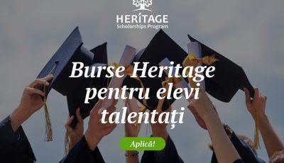 """A început înscrierea candidaţilor pentru Programul """"Burse de studii Heritage"""" 2020-2021"""