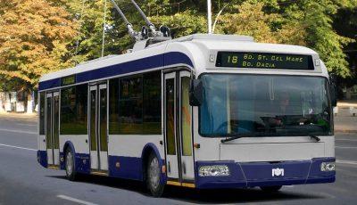 O nouă linie de troleibuz va fi proiectată în municipiul Chișinău