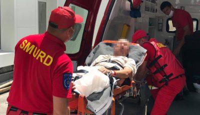 Un moldovean de 56 de ani, transportat cu un echipaj Smurd din Iași la Chișinău