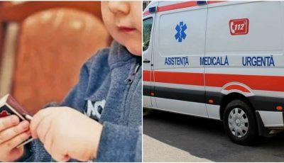 Un copil de 3 ani din Orhei, internat cu arsuri grave după ce a dat foc automobilului din curte