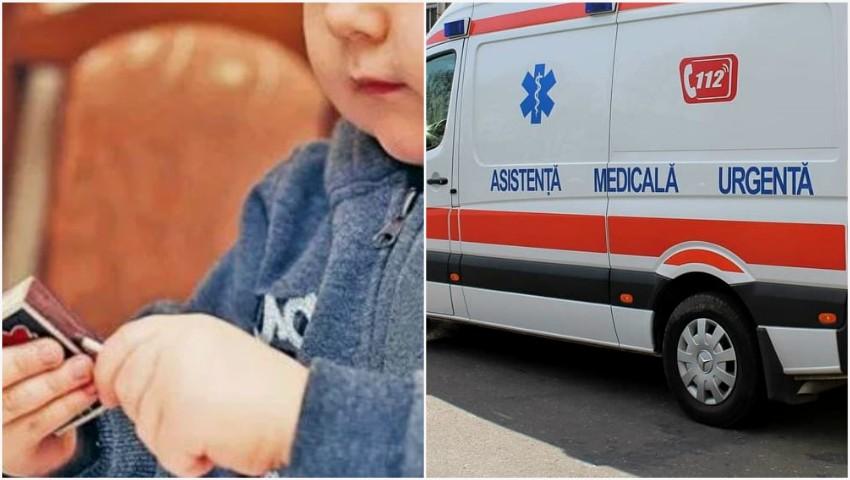 Foto: Un copil de 3 ani din Orhei, internat cu arsuri grave după ce a dat foc automobilului din curte